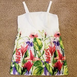 Dressbarn floral sundress white red green